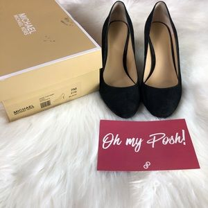 Michael Kors Ashby Suede Heels Size 7